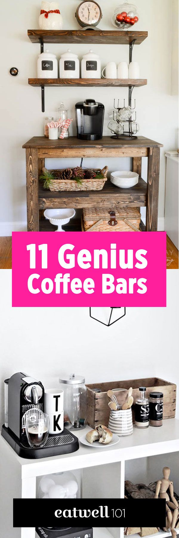 11 genius ways to create your own coffee bar at home attractive coffee bar home 4