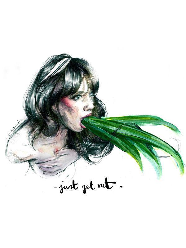 Lámina Paula Bonet - Get out
