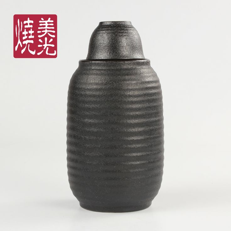 Japanese sake set&sake bottle&ceramic sake pot E581-K-06081 Capacity: 70 ml for the sake cup