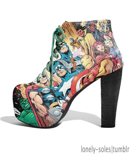 Avengers Makeup, Nails, and Shoes, Oh My! Pin it Tuesday #TheAvengersEvent photo