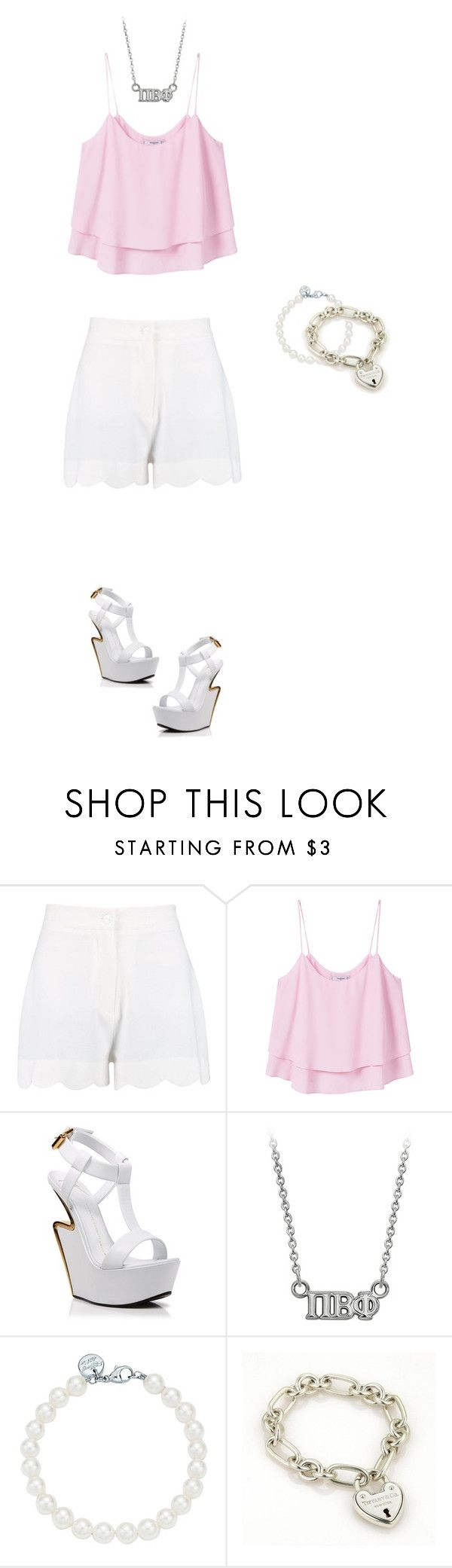 """just another victim"" by fashionistaax on Polyvore featuring MANGO, Giuseppe Zanotti and Tiffany & Co."
