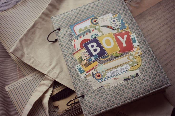 Скрапбукинг - Альбом для мальчика