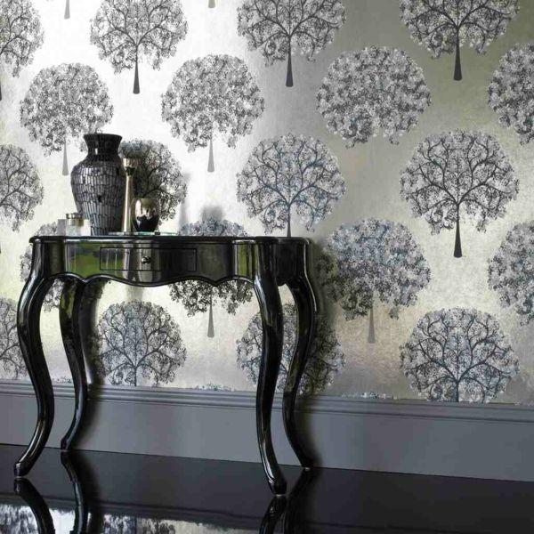 Wandfarbe mit metalleffekt funkeln und glitzern in ihrem zuhause tapete pinterest - Wandfarbe gold glitter ...