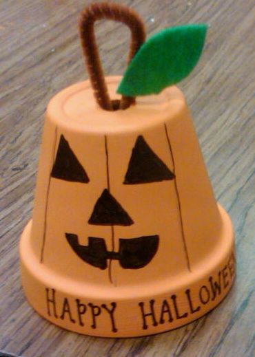 halloween crafts using terra cotta pots pumpkin terra cotta pot - Halloween Crafts For The Classroom
