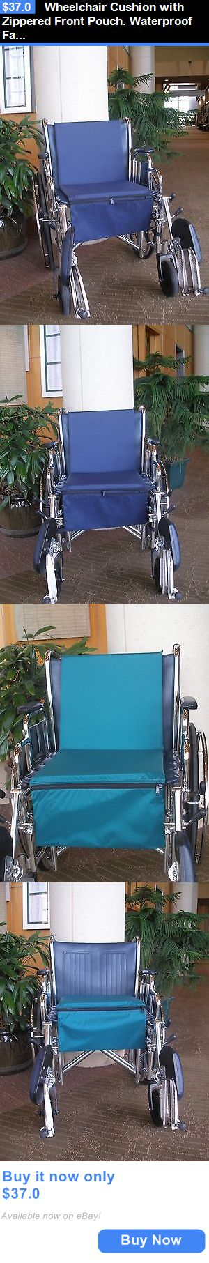 Wheelchairs: Wheelchair Cushion With Zippered Front Pouch. Waterproof Fabric. 2 Positions. BUY IT NOW ONLY: $37.0
