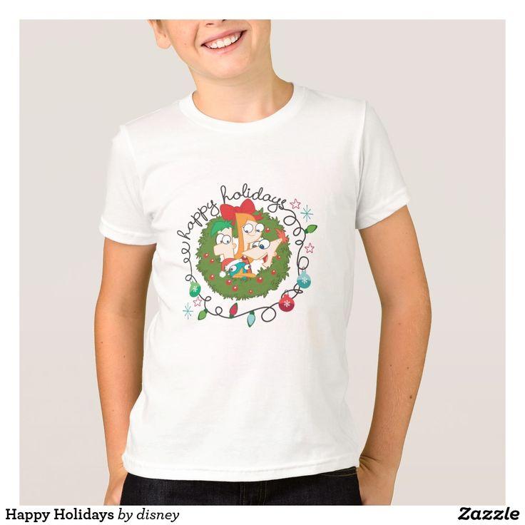 Happy Holidays T-Shirt. Producto disponible en tienda Zazzle. Vestuario, moda. Product available in Zazzle store. Fashion wardrobe. Regalos, Gifts. #camiseta #tshirt