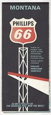 1966 Phillips 66 Gas station MONTANA Fold Out Map Excellent Condition !