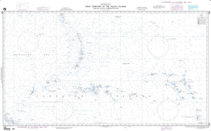 Trust Territory Of The Pacific Islands Nautical Chart (525) by National Geospatial-Intelligence Agency
