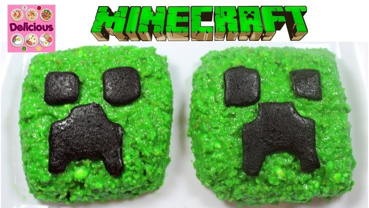 Minecraft Creeper Cake Recipe Pistachio - Minecraft Treats - Minecraft P...