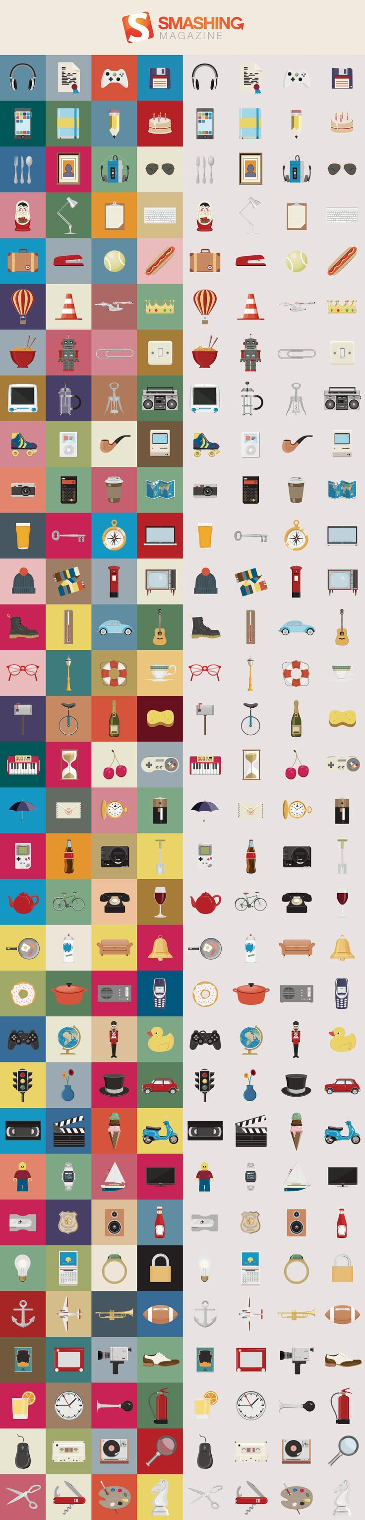 Nice Things Icon Set (128 Icons, PNG + AI Source)
