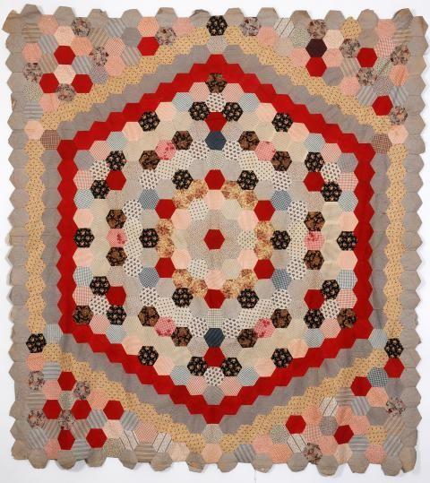 Hexie Patchwork bedcover