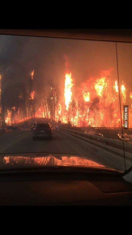 Fort McMurray in Alberta, Canada is evacuating right now.