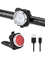 Jooheli Fahrradlicht LED Set Fahrradlicht Fahrradb…
