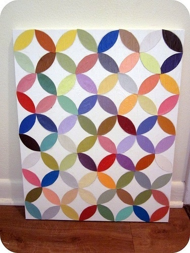 This would be the easiest DIY wall art, and I think it could lokk nice in a frame, for the kid's room maybe...
