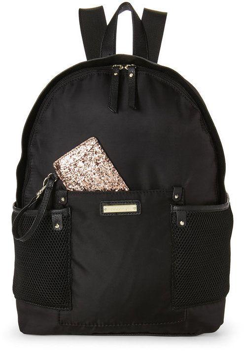 Madden-Girl Black Nylon Mesh Backpack