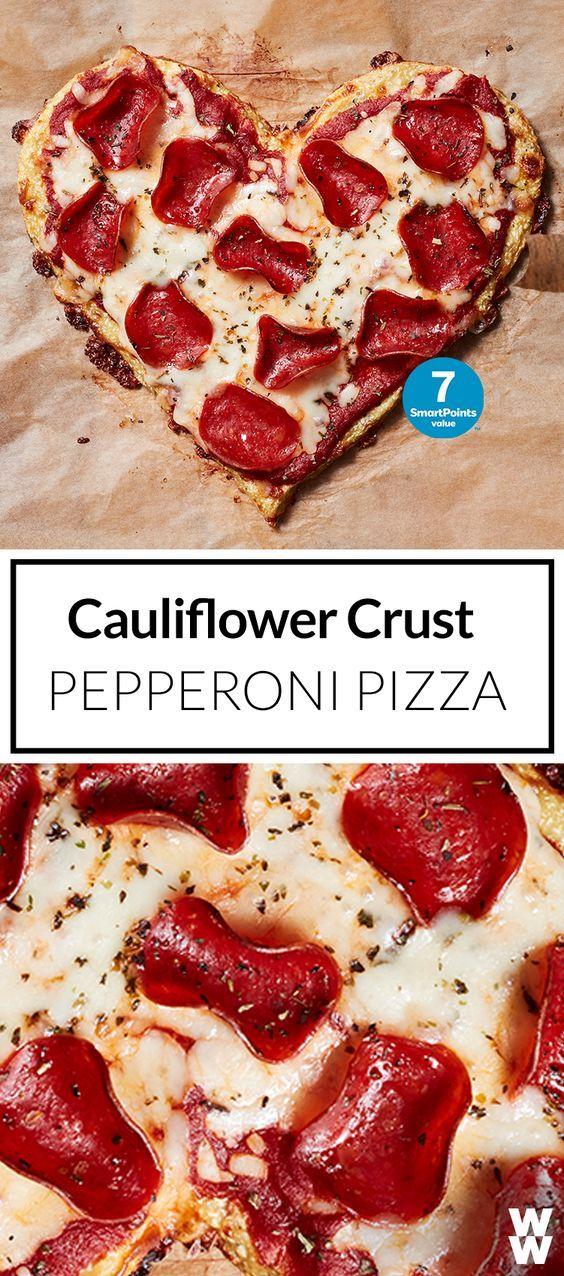 Cauliflower Crust Pizza with Mozzarella and Pepperoni ...
