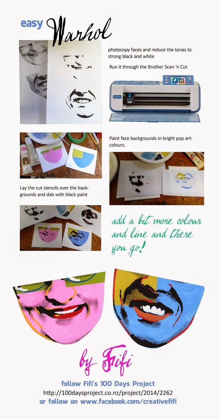 Fifi Verses the World: 100 Days of art Instant Warhol!