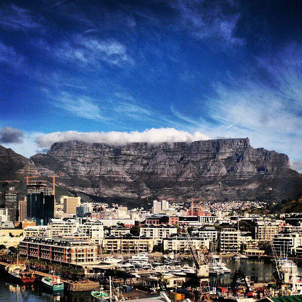 Table Mountain from the V Waterfront.  #CapeTown #tablemountain #southafrica #tourism #VAwaterfront