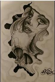 Resultado de imagen para tatuajes de payasas chicanas