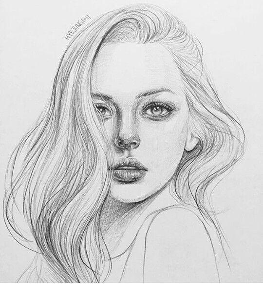 Лицо девочки карандашом картинки