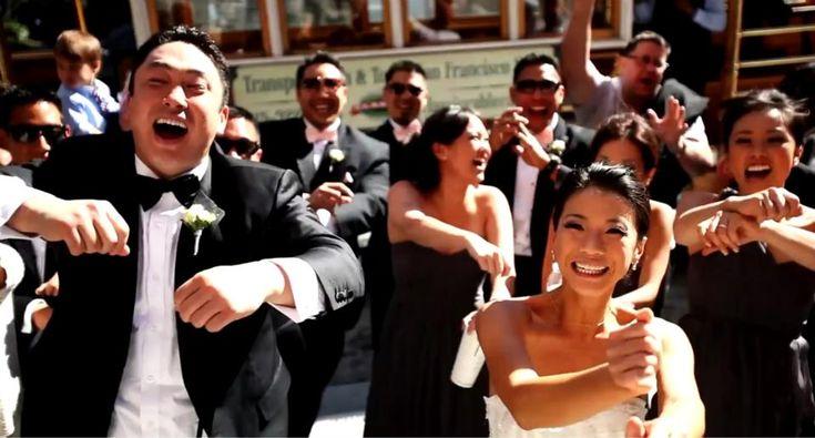 A must see 'Gangnam Style' Wedding Video! So funny! via Bridal Musings