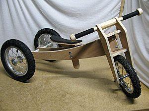 Trike Bike DIY balance bike Add pedals and seat backrest.
