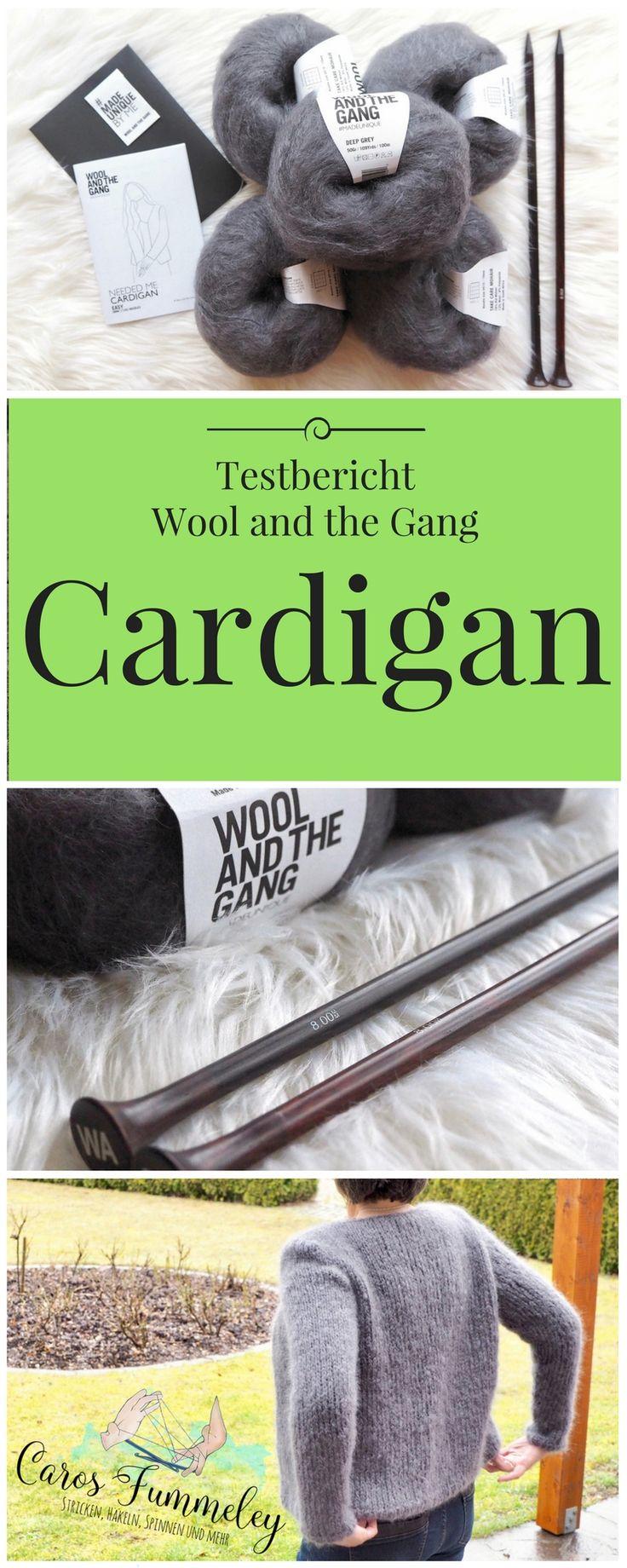 Wool and the Gang - Needed me Cardigan - Testbericht zum anfängertauglichen Strickset aus Mohairgarn mit Gewinnspiel