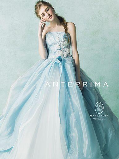 爽やかなブルー系。インポートの花嫁衣装♡カラードレスのまとめ一覧♡