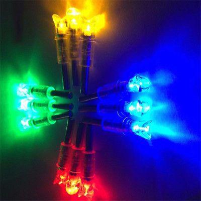 3PCS Auto LED Lighted Half moon Arrow Nocks for Crossbow Arrows ID .297-.302''