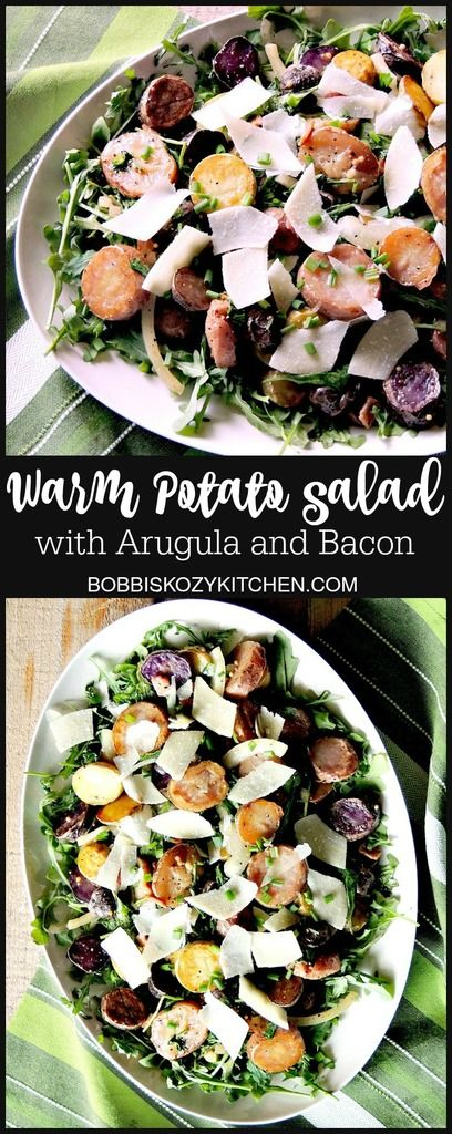 Warm Potato Salad with Arugula Bacon and Browned Butter + 50 Winter Salads from www.bobbiskozykitchen.com