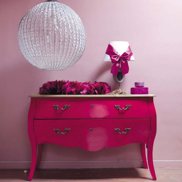 Pink dresser for little girls room. How fun is this!