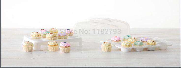 Aliexpress.com: Comprar Mini 24 portador de la magdalena de bolso de magdalena fiable proveedores en Cake Stencil's Store