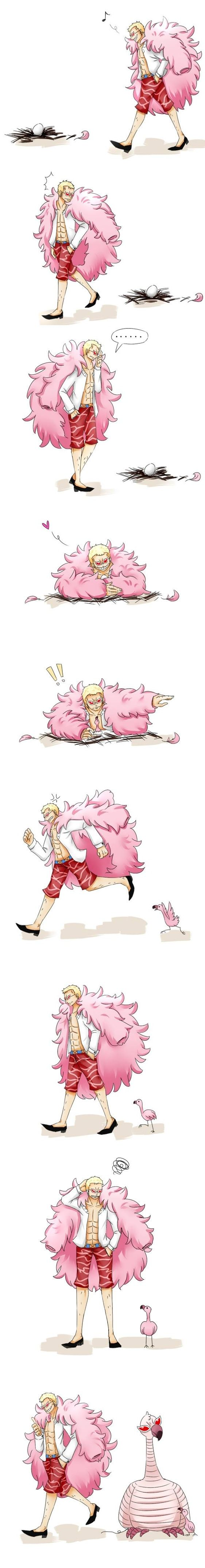 Doflamingo xD from the One Piece anime http://anime.about.com/od/One-Piece-Anime/fl/Where-to-Watch-One-Piece-Anime-Episodes-Online-for-Free.htm