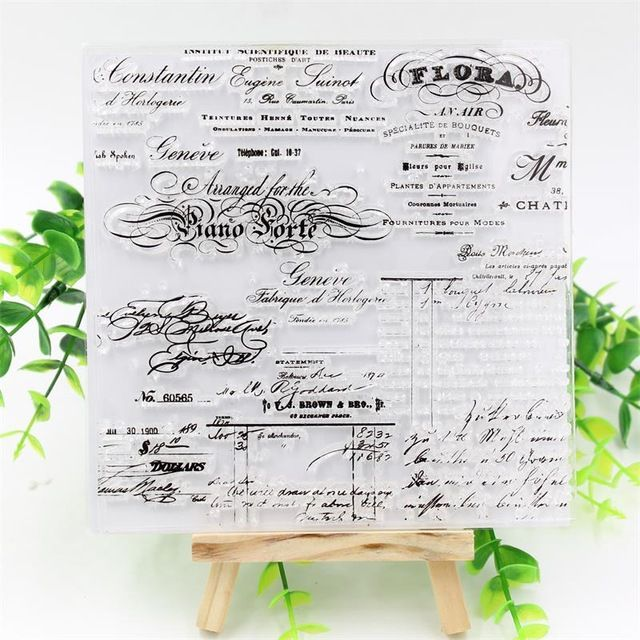 Palavras do vintage Selos de Silicone Transparente Claro para DIY Fazer Scrapbooking/Cartão/Natal Dos Miúdos do Divertimento Decoração Suprimentos