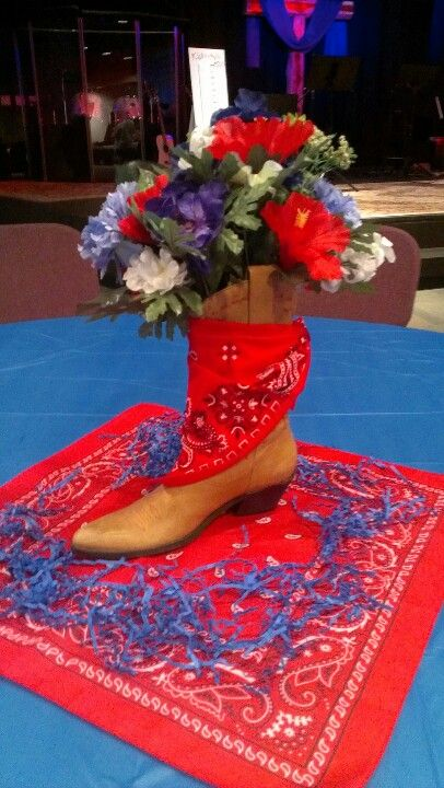 Table decor for Chili Cook Off.