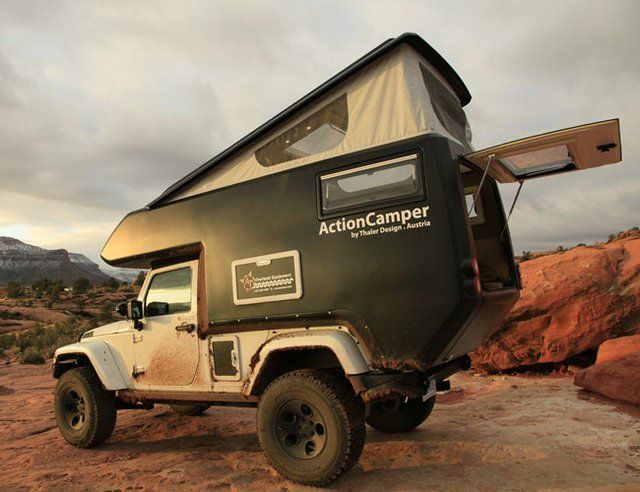 Jeep Action Camper ... yes, Yes, YES! Love Jeeps and love camping. This is awesome.