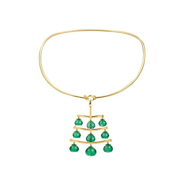 Georg Jensen Gemfields African emerald pendant