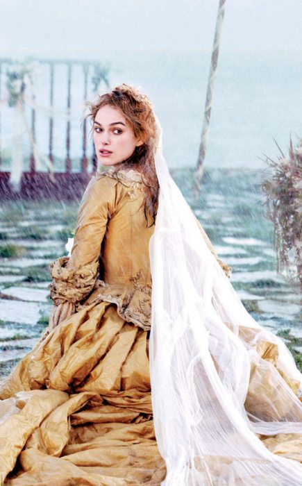 Keira Knightley as Elizabeth Swann in Pirates of the Caribbean: Dead Man's Chest (2006).
