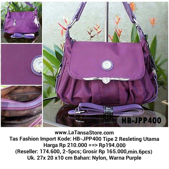 Website: www.latansastore.com FB Page: La Tansa Store Serius Order: Kode Tas + Nama + Alamat + No.HP ♥ Website ♥ Inbox FB ♥ BBM 76221983 (CS 1) atau 29855A43 (CS 2) ♥ SMS 08155 012 474 ♥ WA/LINE 0852 885 886  81 Pembayaran: Mandiri/BCA/BNI/BRI Pengiriman: JNE/Tiki/Wahana/Pos Indonesia Harga BELUM termasuk ongkir    La Tansa Store - Toko Tas Online: Tas Import Murah  Tas Fashion Import Kode: HB-JPP400 Tipe 2 Resleting Utama Harga Rp 210.000 ==> Rp194.000 (Reseller: 174.600, 2-5pcs; Grosir Rp…
