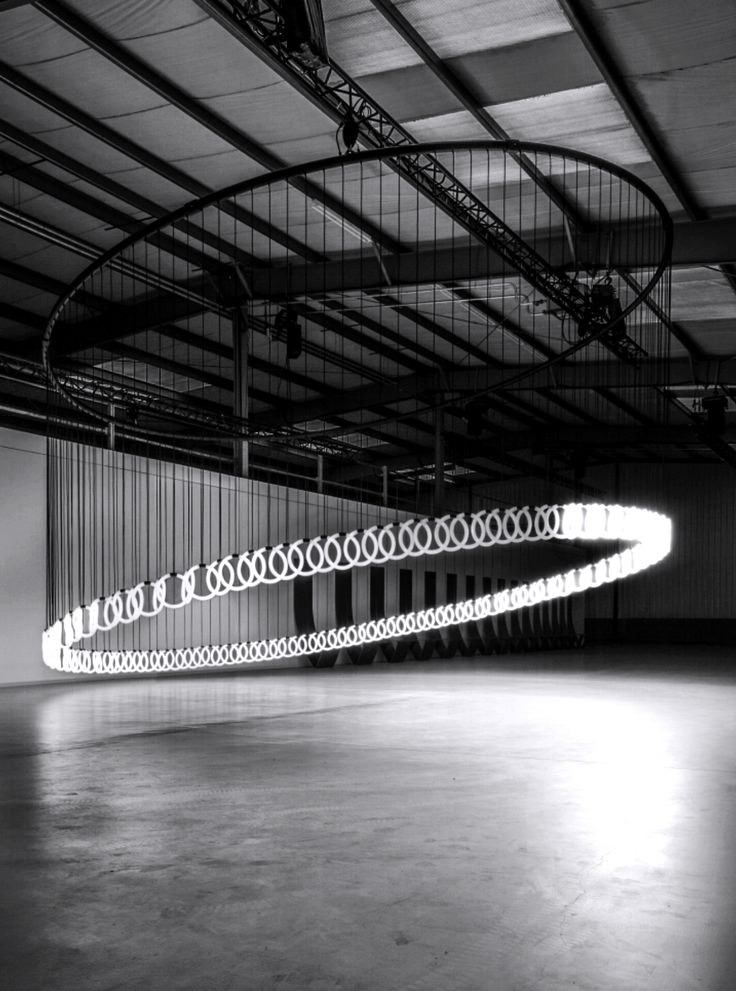 A neon light circular installation inspired by the architecture form, Oculus.   -HENK STALLINGA