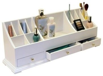 Richards Homewares Personal Organizer, White - modern - bath and spa accessories - - by Target