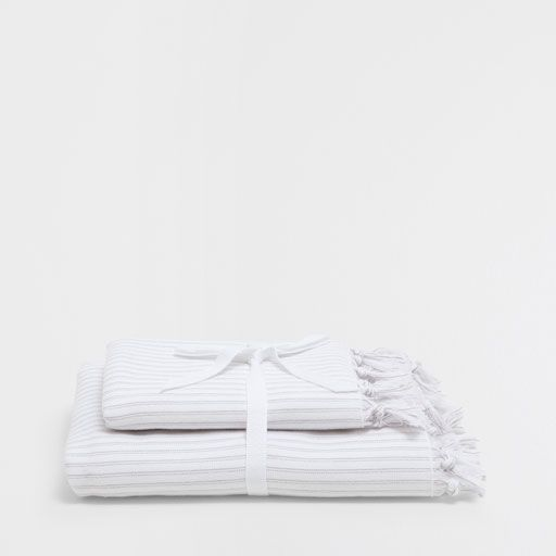 Image of the product COTTON GUEST TOWEL WITH KNOTS (SET OF 2)