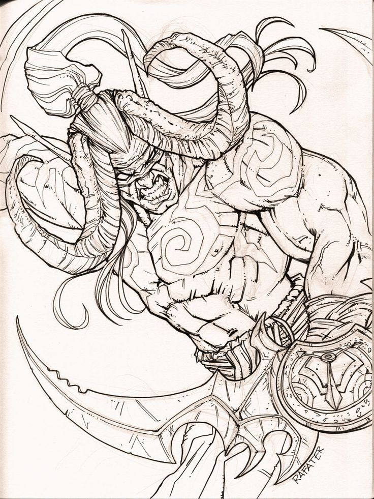 Illidan   Word of Warcraft, Rafael Teruel   Dessin ...