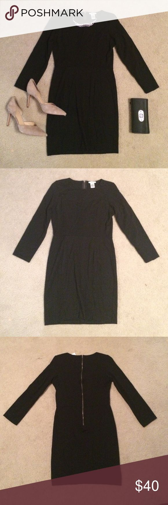 Long Sleeve LBD The tag reads XL but this dress fits as a M/L  so it is listed as a L! Exact measurements upon request! Perfect for all occasions--dress it up or down!  Long sleeve, fitted, zipper back dress.  Material has some stretch as well as curve control. Breathable material. NEW without tags. Post questions in comments!  Make an offer! Bar III Dresses Mini