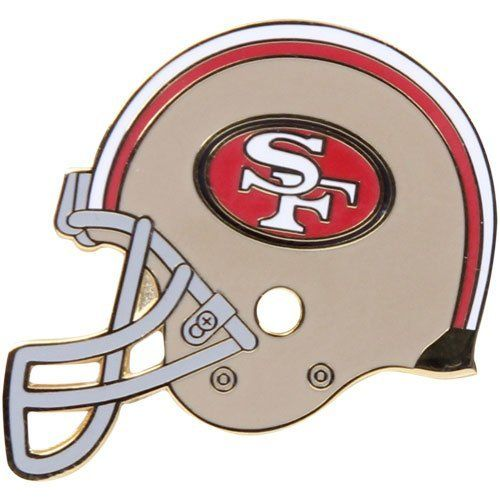 NFL San Francisco 49ers Helmet & Logo Pin by WinCraft. $4.95. Great for lapels or hats. Imported. Enameled in vibrant color. Officially licensed NFL product. San Francisco 49ers Helmet & Logo PinGreat for lapels or hatsOfficially licensed NFL productImportedTeam logo and colorsEnameled in vibrant colorTeam logo and colorsGreat for lapels or hatsEnameled in vibrant colorImportedOfficially licensed NFL product