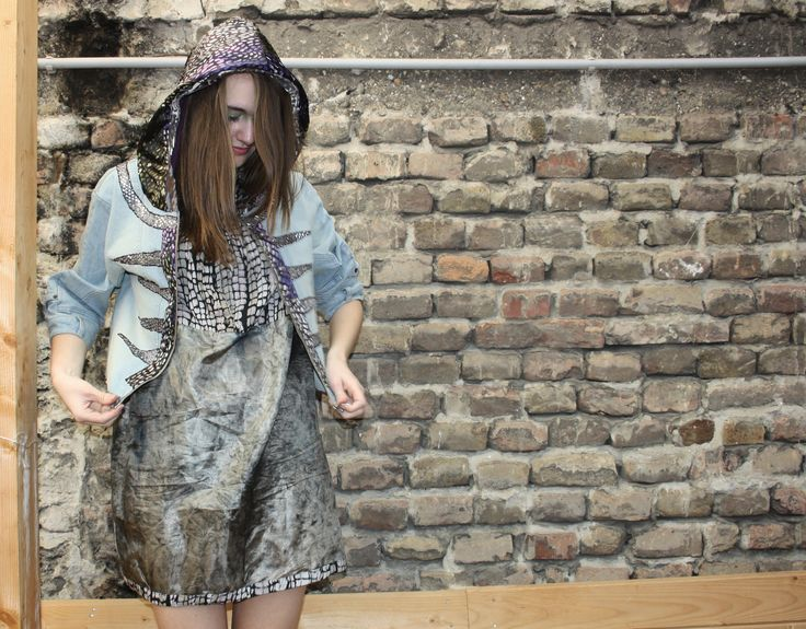 upcycling jeans jacket and dress