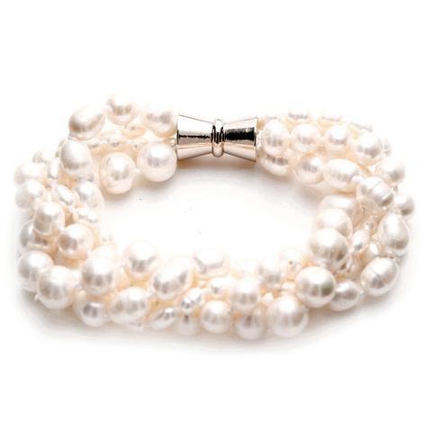Claire Fresh Water Pearl Twist Bracelet