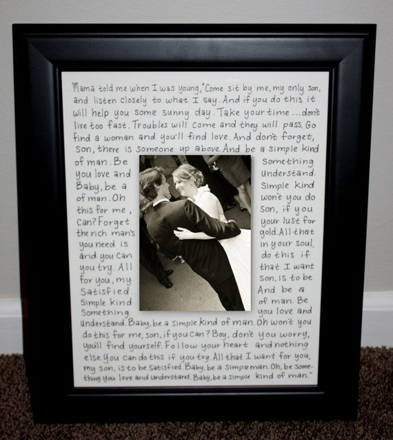First Dance Lyrics Picture Frame Customized by KatieCBugDesigns