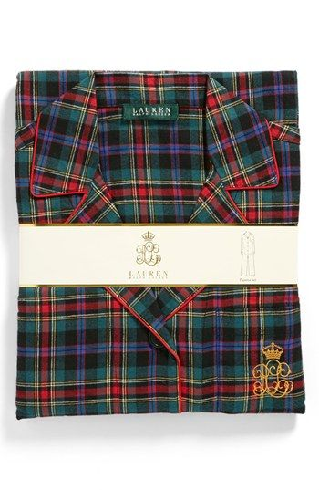 Lauren Ralph Lauren Brushed Twill Pajamas available at #Nordstrom