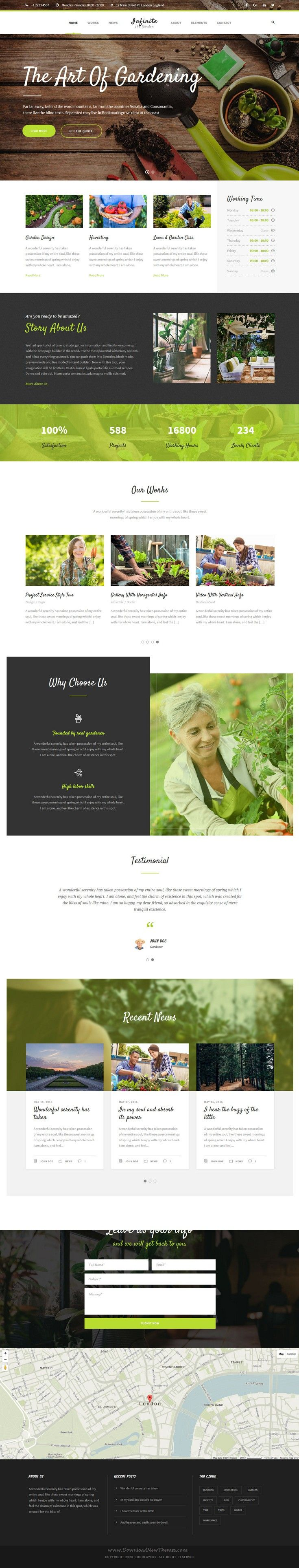 Infinite is well designed responsive WordPress theme for multipurpose amazing #website. #gardener Download Now!